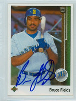 Bruce Fields AUTOGRAPH 1989 Upper Deck Mariners 