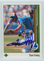 Tom Foley AUTOGRAPH 1989 Upper Deck Expos 