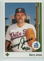 Barry Jones AUTOGRAPH 1989 Upper Deck White Sox 