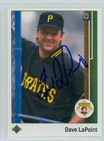 Dave LaPoint AUTOGRAPH 1989 Upper Deck Pirates 