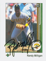 Randy Milligan AUTOGRAPH 1989 Upper Deck Pirates 