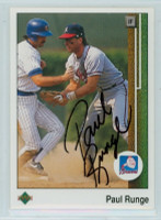 Paul Runge AUTOGRAPH 1989 Upper Deck Braves 