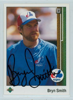 Bryn Smith AUTOGRAPH 1989 Upper Deck Expos 
