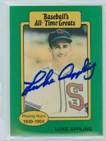 Luke Appling AUTOGRAPH d.91 TCMA All-Time Greats White Sox 