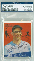 Luke Appling AUTOGRAPH d.91 34 Goudey Reprints White Sox PSA/DNA 
