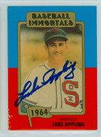 Luke Appling AUTOGRAPH d.91 TCMA Baseball Immortals White Sox 