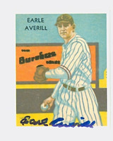 Earl Averill HOF AUTOGRAPH d.83 1934 Diamond Stars Dover Reprint 