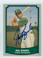 Sal Bando AUTOGRAPH 1988|89 Pacific Legends 