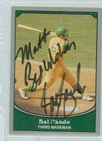 Sal Bando AUTOGRAPH 1990 Pacific Legends Athletics  PERS