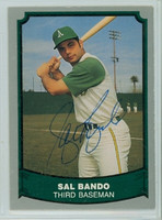Sal Bando AUTOGRAPH 1988 1988|89 Pacific Legends Athletics 