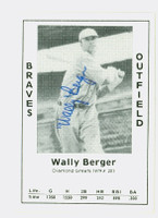 Wally Berger AUTOGRAPH d.88 1979 TCMA Diamond Greats Braves 