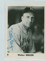 Wally Berger AUTOGRAPH d.88 NL All Stars Collector Set, Glossy, Blank Back Braves 