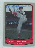 Ewell Blackwell AUTOGRAPH d.96 1989 1988|89 Pacific Legends Reds 