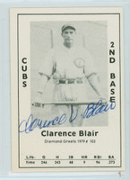 Footsie Blair AUTOGRAPH d.82 1979 TCMA Diamond Greats Cubs 