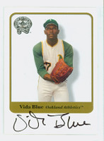 Vida Blue AUTOGRAPH 2001 Fleer Greats of the Game Giants CERTIFIED 