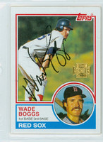 Wade Boggs AUTOGRAPH 2001 Topps Archives 1983 Topps Red Sox   [SKU:BoggW6082_T01BBARpl]