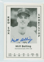 Milt Bolling AUTOGRAPH d.13 1979 TCMA Diamond Greats Red Sox 