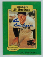 Lou Boudreau AUTOGRAPH d.01 TCMA All-Time Greats Red Sox 