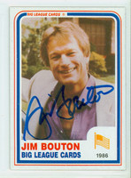 Jim Bouton AUTOGRAPH d.19 1980s Big League Cards 
