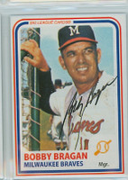 Bobby Bragan AUTOGRAPH d.10 1980s Big League Cards Milwaukee Braves 