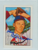 Harry Brecheen AUTOGRAPH d.04 1952 Bowman Reprints Cardinals 
