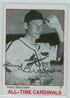 Harry Brecheen AUTOGRAPH d.04 TCMA All-Time Cardinals 