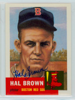 Hal Brown AUTOGRAPH Topps 1953 Archives Red Sox 