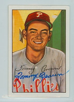 Tommy Brown AUTOGRAPH 1952 Bowman Reprints Phillies 