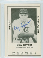 Clay Bryant AUTOGRAPH d.99 1979 TCMA Diamond Greats Cubs 