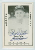 Bob Cain AUTOGRAPH d.97 1979 TCMA Diamond Greats Browns 