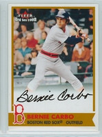 Bernie Carbo AUTOGRAPH 2001 Fleer Red Sox 100th Red Sox CERTIFIED 