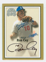Ron Cey AUTOGRAPH 2000 Fleer Greats of the Game Dodgers CERTIFIED 
