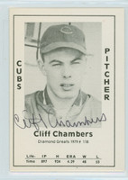Cliff Chambers AUTOGRAPH d.12 1979 TCMA Diamond Greats Cubs 