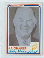 Albert Chandler AUTOGRAPH d.91 1980s Big League Cards 