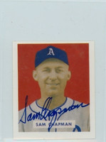 Sam Chapman AUTOGRAPH d.06 1949 Bowman Reprints Athletics 