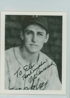 Pete Coscarart AUTOGRAPH d.02 Pre-War Reprints 1939 Play Ball Dodgers  PERS