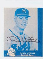 Chuck Cottier AUTOGRAPH Lake to Lake Braves Reprints 