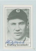 Stan Coveleski AUTOGRAPH d.84 1978 Grand Slam 