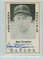 Doc Cramer AUTOGRAPH d.90 1979 TCMA Diamond Greats Senators 
