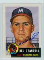 Del Crandall AUTOGRAPH Topps 1953 Archives Braves 