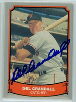 Del Crandall AUTOGRAPH 1988|89 Pacific Legends Giants 