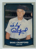 Shag Crawford AUTOGRAPH d.07 1989 1988|89 Pacific Legends 