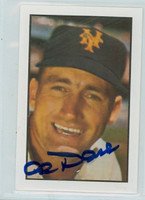 Al Dark AUTOGRAPH d.14 1953 Bowman Color Reprints Giants 