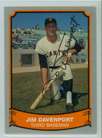 Jim Davenport AUTOGRAPH d.16 1989 1988|89 Pacific Legends Giants 