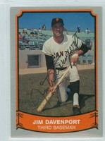 Jim Davenport AUTOGRAPH d.16 1988|89 Pacific Legends Giants 