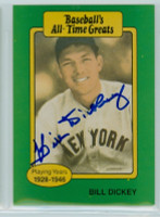 Bill Dickey AUTOGRAPH d.93 TCMA All-Time Greats Yankees 