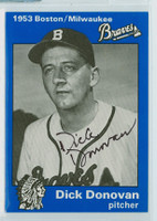 Dick Donovan AUTOGRAPH d.97 1953 Boston|Milw Braves 30th Anniversary Set 
