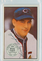 Woody English AUTOGRAPH d.97 1982-83 Diamond Classics Cubs 