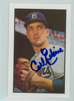 Carl Erskine AUTOGRAPH 1953 Bowman Color Reprints Dodgers 