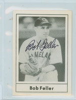 Bob Feller AUTOGRAPH d.10 1978 Grand Slam Indians 